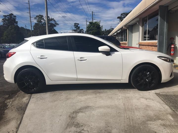 Tinted This Mazda 3 With Matte Black Rims Done By The