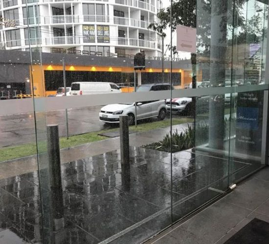 Office Frosting/safety decal upgrade at Porsche Sydney south