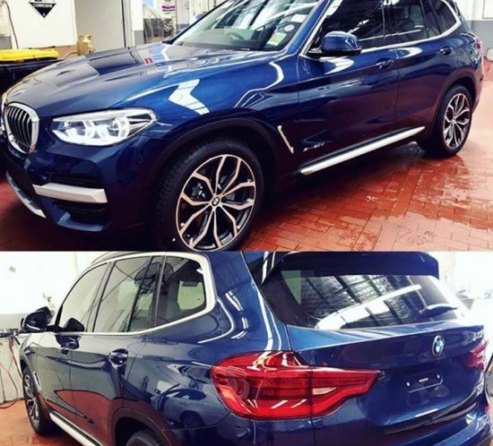 Brand New BMW X3 Tinted in 35%  #bmw  #x3  #bluecar  #automo