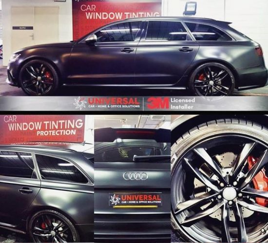 Matte black Audi RS6 tinted today. #matte  #matteblck  #audi