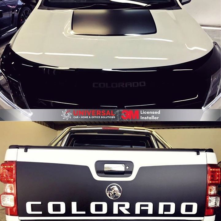 Holden Colorado Tailgate And Bonnet Decals Applied