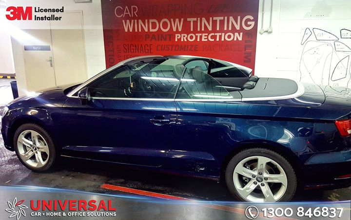 Audi A3 Convertible Tinted With Darkness Legal Window Film