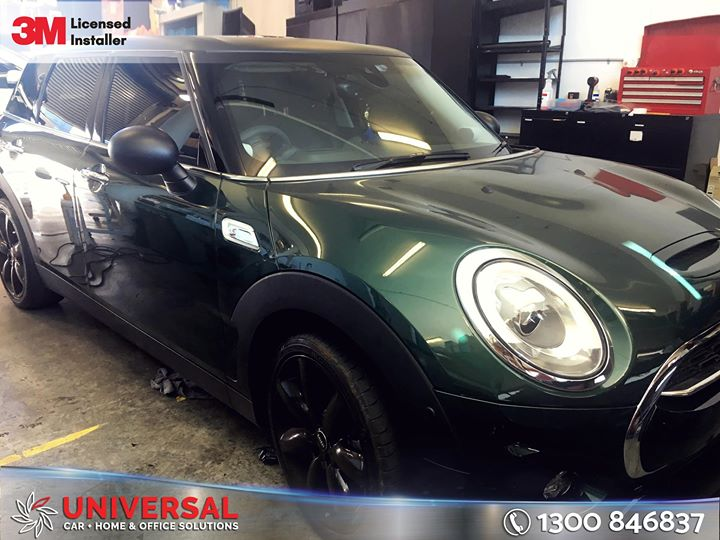 MINI COOPER S Clubman Roof Wrapping in Matt Black Film with