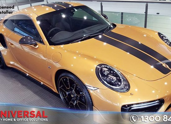 Porsche 911 Turbo S Tinted With Darkest Legal Window Film